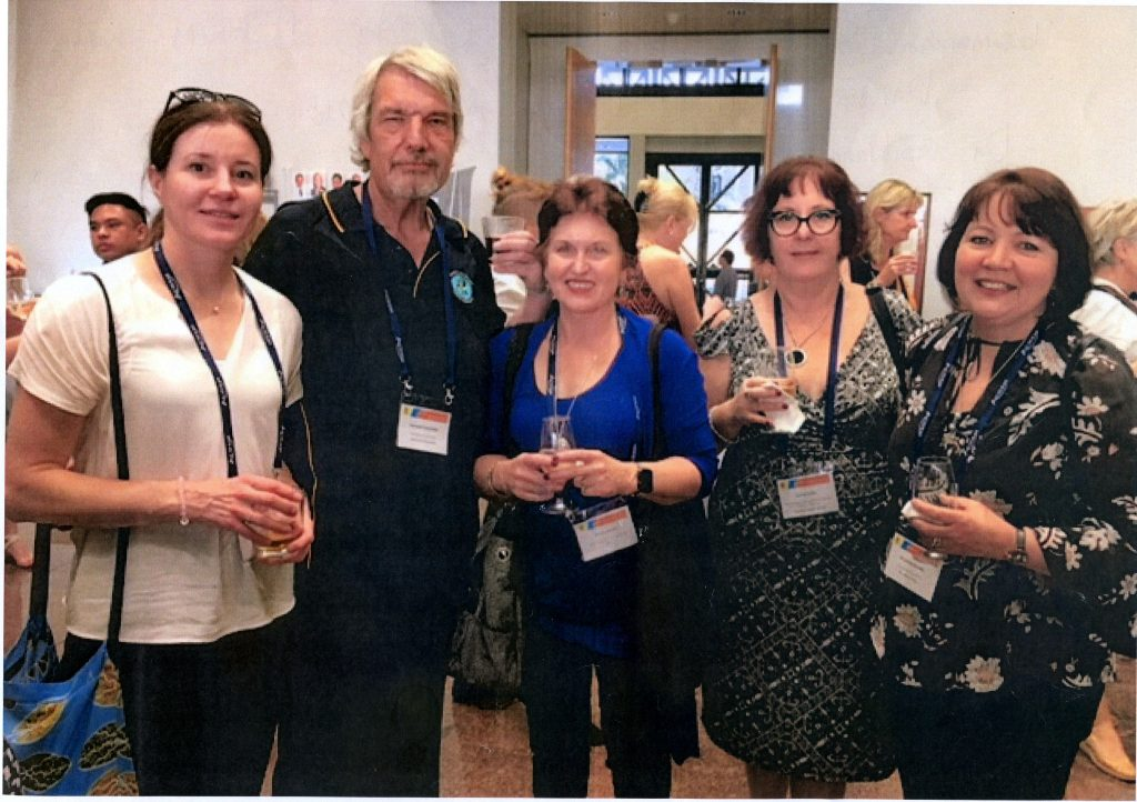 Tasmanian contingent at ACHSM Congress in Darwin October 2018  Dr Silvana Bettiol  Prof Len  Wendy Quinn  Sue Crowen  Amanda Quealy